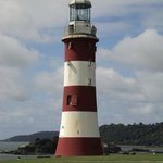 Smeatons lighthouse, 1759 - 1882 on the Eddystone reef