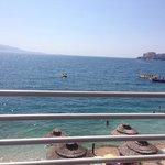 Blick vob der Veranda auf Korfu und die Stadt