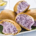 Taro rolls. They come in purple and pink. LOL!