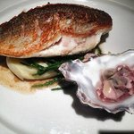 Sea Bass cooked to perfection. The oyster vinagrette was a great touch