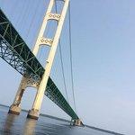 Crusing UNDER the Mackinac Bridge