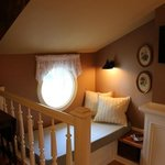 here is the reading nook in their newest suite