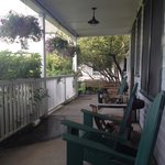 Side porch off main lobby!
