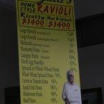 Borgatti's Pasta Factory on Arthur Avenue - inside was even nicer than the menu