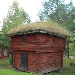 turf covered building