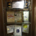 Hotel awards and comendations
