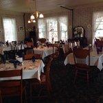 Hotel dining room.