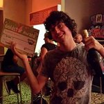 happy adam finally winning the comp