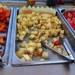 la piña del buffet