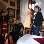 Klezmer band at restaurant