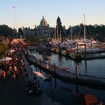 Inner Harbour, minutes by foot.