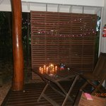 our little deck area