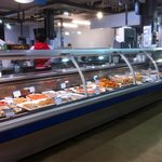 Cooked seafood counter