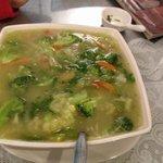 Sopa de verduras del tiempo