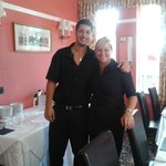 Michelle (owner) & her waiter.