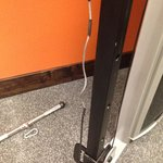 Worn cording on universal weight machine.