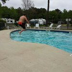 Jumping into the pool