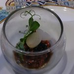 Appetiter,  i forgot the description but contains beef and caviar. Enjoyable!