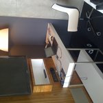 The desk area - free wifi and local calls