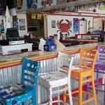 Painted bar stools