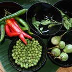 Local Thai ingredients used in cooking class