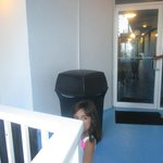 The garbage bin as we got into the area where our rooms were