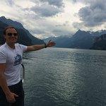 Lake Lucerna near the museum