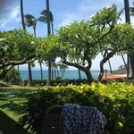 From our Lanai we could see the beautiful ocean and the Gazebo.
