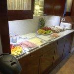 Breakfast setup area