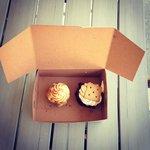 salted caramel cupcake and s'mores cupcake
