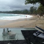 Breakfast beside the beach