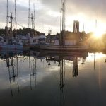sunset at floathouse restaurant