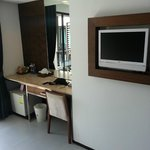 Nice built-in tv & dressing table