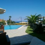 View across pool area...