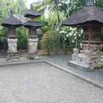 Traditional Balinese house temples