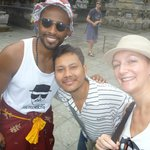 Us with our guide, Ketut