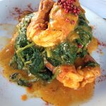 Giant prawns in spinach, a must try!