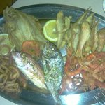 Grilled fish and seafood