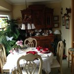 Breakfast area in Garden room