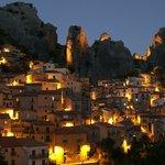 Visione notturna di Castelmezzano