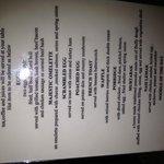 Breakast menu