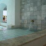 detail bij het zwembad