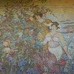 détail des murs de la salle Art Nouveau