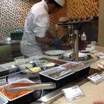 Chef preparing fresh stir fry