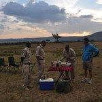 Seeing sunset in the Maasai Mara wild landscope