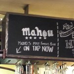 With draft Mahou beer! :)