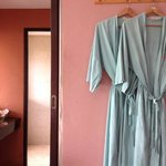 old-fashioned bathrobes
