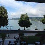 Blick von der Terrasse im Restaurant