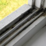 ekelhaft verschmutzte Fensterrahmen im Fachwerkhaus 3