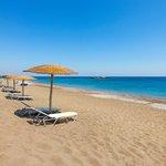 Free umbrellas and sun beds